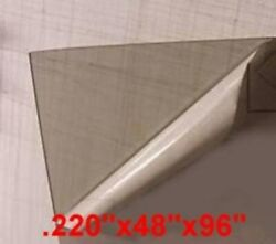 Lexan Sheet .220x4and039x8and039 10 Sheets Transparent Gray Polycarbonate 11854-1