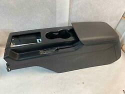 Front Center Floor Console With Lid Black Ford Mustang 07 2 Broken Bolt Holes