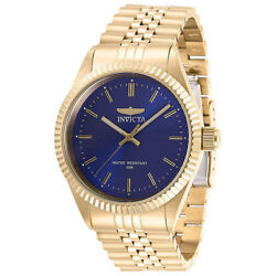 Menand039s Watch Specialty Blue Dial Yellow Gold Bracelet 29386