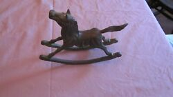 Victorian Child's Toy Hobby Horse, Once-gilded Bronze