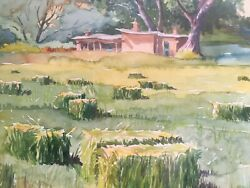 Watercolor Painting By Shirl Brainard Georgia O'keefe's House Ghost Ranch Nm