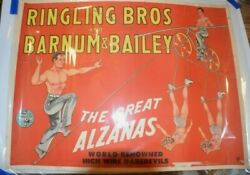 1949 Ringling Bros. And Barnum And Bailey Circus Poster - The Great Alzanas