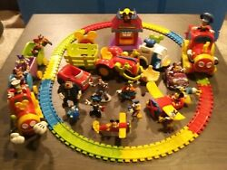 Huge -mickey Mouse Clubhouse Toy Lot Trains +track, Planes Figures And More