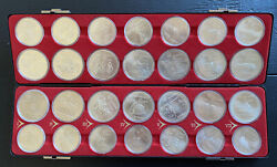 Mint Silver Coin Set 1976 Canada Olympics — 28 Coins In Original Box.