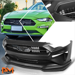 For 18-20 Ford Mustang Gt500 Style Front Bumper Cover W/grille+lower Lip Spoiler