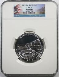 2012 Chaco New Mexico Silver 5oz 25c Ms 69 Dpl Ngc America The Beautiful Atb
