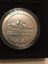 2010 America The Beautiful 5oz. Silver Uncirculated Coin Mount Hood .