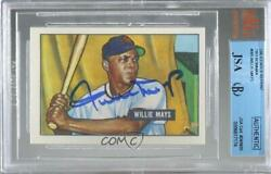 1900-present Authenticated Willie Mays Jsa Certified Encased By Bvg Auto Hof