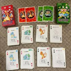 Pokemon Playing Cards Rare First Generation Red And Green Box Game 13