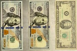 20 And 100 Dollar Bills With Palindromic And Unusual Numbers
