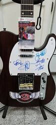 Reo Speedwagon Signed Autographed Electric Guitar Jsa Certified