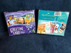 2 Greeting Card Pc Software Sets Art Explosion Factory Version 4 And Hallmark Cs
