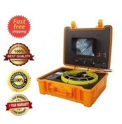 Sewer Drain Pipe Inspection Snake Camera 10 Lcd 130 Ft 512 Hz Sonde Ft. Counter