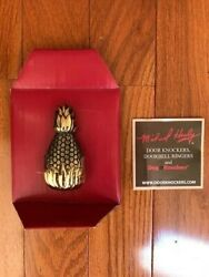 Michael Healy Pineapple Doorbell Ringer Solid Brass Pushbutton New
