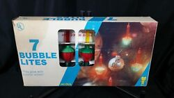 Vintage Noma 7 Bubble Lights Fully Functionable With Original Box Excellent Cond