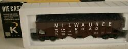 ✅k-line By Lionel Die Cast Milwaukee Road 4 Bay Coal Hopper Car O Scale Freight
