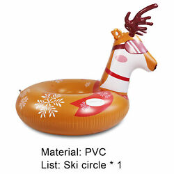 46'' Large Snow Tube Thick Pvc Inflatable Snow Sled For Kids Adults Sledding