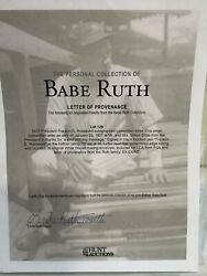 President Fdr Signed Letter From Babe Ruth Personally Owned Collection Psa/dna