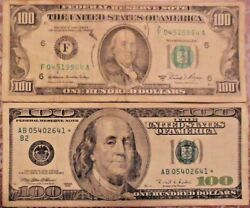 1981-a And 1996 Star 100 United States Federal Reserve Notes Lot Of Two Notes