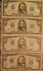 1981 And 1985 50 United States Federal Reserve Notes Lot Of Four Notes