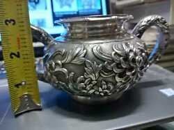 1890and039s Chinese Export Luen Wo Sterling Silver Tea Service Bowl Rare Antique