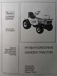 Sears Ff 18 Lawn Garden Tractor Front And Rear Pto Owner And Parts 3 Manual S H.p