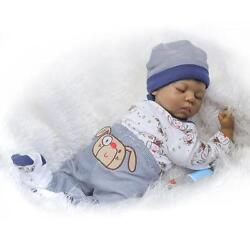 Black African American Silicone Vinyl Doll 20'' Native Indian Reborn Baby Dolls