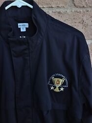 Ashworth Lightweight Full Zip Jacket Black Size M Embroidered Nmmi Generals Cup