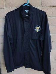 Ashworth Lightweight Full Zip Jacket Black Size L Embroidered Nmmi Generals Cup