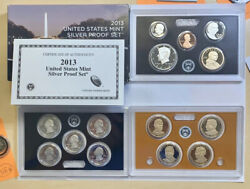 2013 Us Mint Silver Proof Set - Complete 14 Coin Set, Box, And Coa. T19