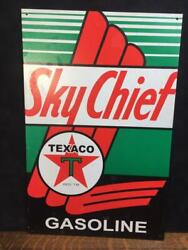 Vintage Texaco Sky Chief Reproduction Sign Gas Advertising Garage Signage 16