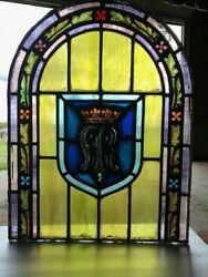 Queenand039s Crown Stained Glass Window