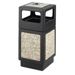 Evos 15 Gal. Outdoor Ashtray And Stone Waste Receptacle