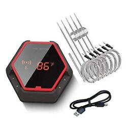 Wireless Bluetooth Bbq Thermometer Ibt-6xs, 6 Probes, Digital Cooking Grill The