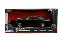 Fast And Furious 9 - 1970 Dodge Charger Black 124 Scale Hollywood Ride-jad31...