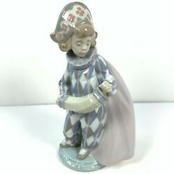 Lladro Harlequin Serenade Accordion Retired Porcelain Figurine 5695 Without Box