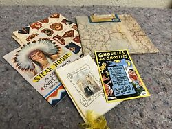 Lot Of Assorted Ephemera-us Military Patches Guide-french Road Map-knotts Berry