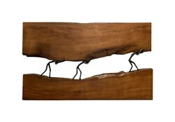60 L Wall Panel Atlas Figures Support Solid Natural Acacia Wood Modern