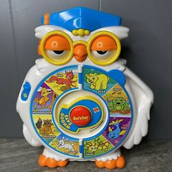 See N Say Owl Whoo Says Mattel 1996 2 Page Animals And Neighborhood Friends Tested