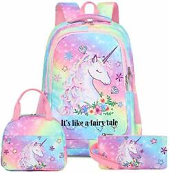 School Backpacks Girls Bookbag Cute Lightweight Backpack Kids Lunch bag and Penc $65.71