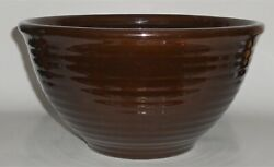 Bauer Pottery Ring Ware 9 Chocolate Brown Mixing Bowl