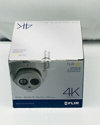 Flir N253ea8 8mp Outdoor Network 4k Dome Camera W/ Night Vision And Audio, White