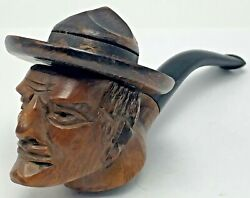 Vintage Canadian Mountie Figural Smoking Pipe Briar Head Hat Mounted Police