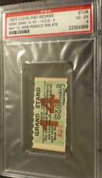 Babe Ruth 2 Hits And Rbi 1923 Ticket Stub Yankees Penneck Win 79🔥psa Authentic