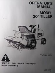 Simplicity 6000 Broadmoor Lawn Tractor 30 Tiller Implement 1690194 Owners Manual
