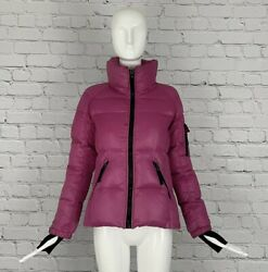 SAM. New York Women#x27;s Hot Pink Goose Down Freestyle Puffer Jacket Sz S $89.00