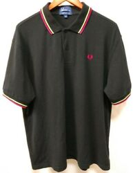 Fred Perry Twin Tipped Pique Polo Shirt M1200 XXL Black with Lime amp; Magenta Trim $33.00