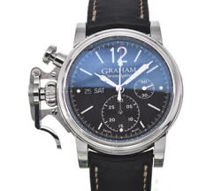 Graham Chrono Fighter Vintage 2cas Black Dial Automatic Menand039s Watch B102399