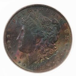 1885-o Morgan 1 Pcgs Certified Ms64 Colorful Toned Obverse Toner Silver Dollar