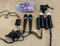 Mega Playstation 3 Ps3 Move 2 Motion 2 Nav Controllers 2 Sing Star Microphones